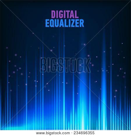 Vector Image Of Multi Color Audio Waveform Technology Background Digital Equalizer Technology Abstra