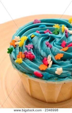 Blue Candy Cup Cake