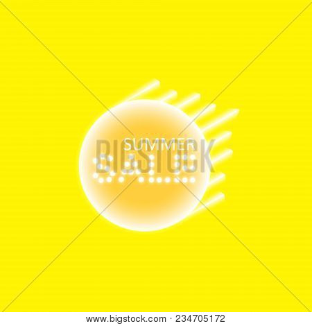 Abstract Yellow Energy Ring With Bitcoin And Speed Line On A Yellow Background.. Vector