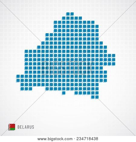 Belarus Map And Flag Icon