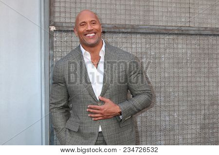 LOS ANGELES - APR 4:  Dwayne Johnson, The Rock at the