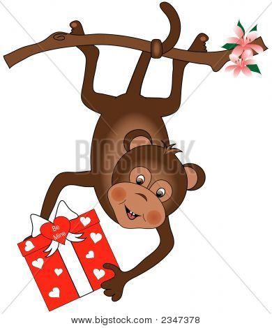 Monkey With Heart Gift
