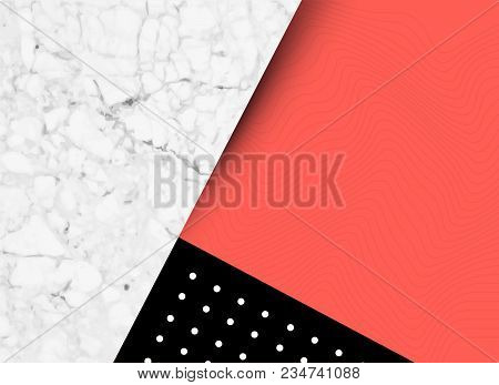 Abstract Shapes, Textures And Pattern Background With Room For Text. Vector Illustration
