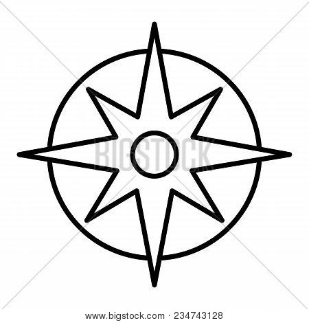 Compass Linear Icon. Pocket Compass Thin Line Illustration. Navigation And Orientation Instrument. C