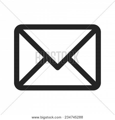 Mail Icon Isolated On White Background. Mail Icon Modern Symbol For Graphic And Web Design. Mail Ico