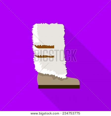 Winter Boot Icon. Flat Illustration Of Winter Boot Vector Icon For Web