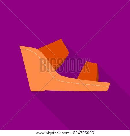 Footwear Icon. Flat Illustration Of Footwear Vector Icon For Web