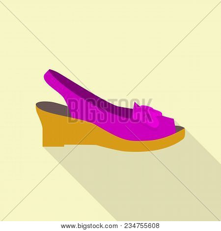 Stylish Shoe Icon. Flat Illustration Of Stylish Shoe Vector Icon For Web
