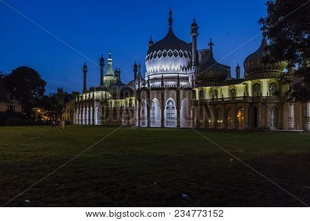 Brighton, Great Britain - September 16, 2014: This Is The Royal Pavilion, The Former Seaside Residen