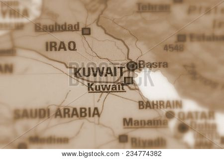 Kuwait, Officially The State Of Kuwait (sepia Selective Focus).