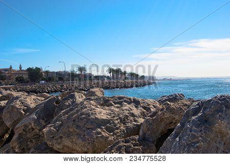 View Of Mediterranean Sea In Palma, Majorca, Balearic Islands