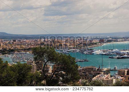 Landscape Of Palma Harbour, Majorca, Balearic Islnds, Spain