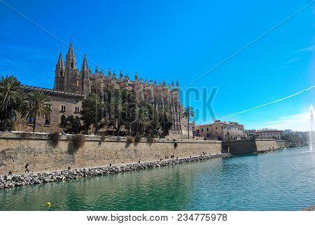 Cathedran Of Palma, In Majorca Baleari Islands, Spain