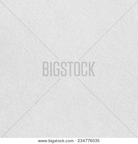 Blank White Watercolour Paper Texture Or Background. Top View. Flat Lay.