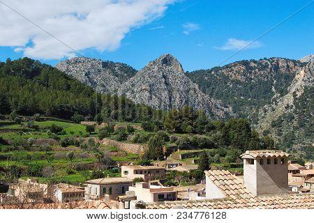 Bunyola Landscape, Village And Tramuntana Mountains 2, Majorca, Spain