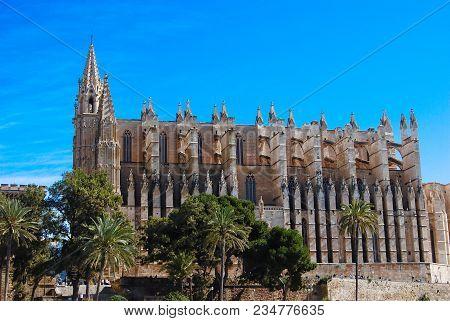 Cathedralof Palma, In  Majorca, Balearic Islands, Spain
