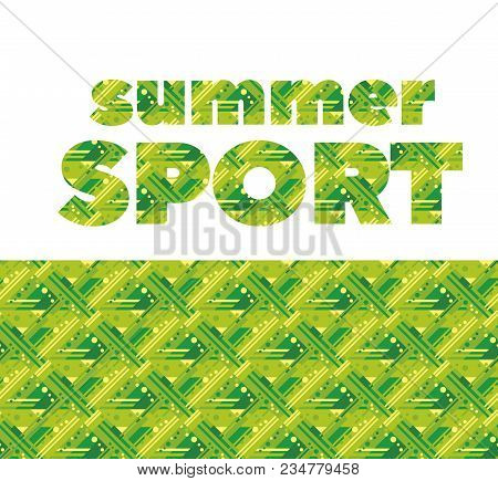 Summer Grass Green Sport Abstract Seamless Pattern. Stock Vector Illustration. Stripe, Line Dynamic