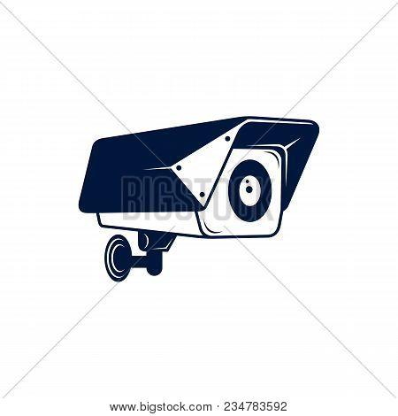 Video Surveillance, Cctv Camera Icon. Security Camera. Vector Stock