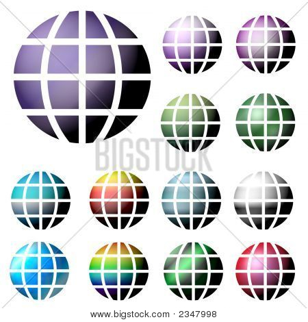 Colorful Globes - Internet