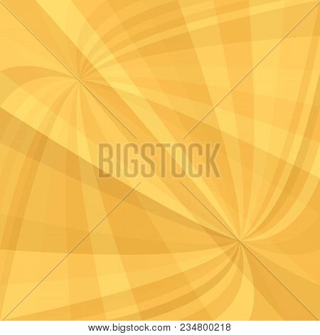 Orange Double Curved Ray Burst Background - Vector Illustration From Swirling Rays