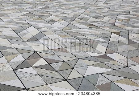 Background Of Many Marbles Of Many Kinds And Colors For The Flooring