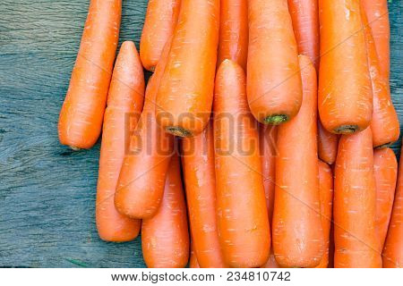 The Carrots, Carrots Sticks, Carrots Juice. Healthy Snacks And Diet Fitness Concept