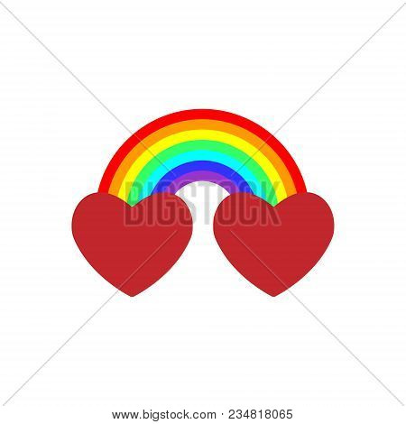 Very Cool Vector Is When We Actually Combined The Two Hearts Together With A Rainbow, The Combinatio