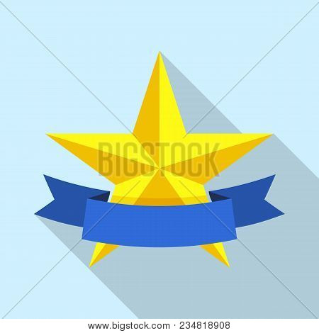 Star Medal Icon. Flat Illustration Of Star Medal Vector Icon For Web