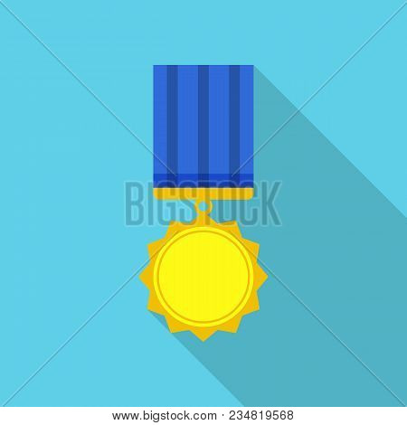 Achievement Medal Icon. Flat Illustration Of Achievement Medal Vector Icon For Web