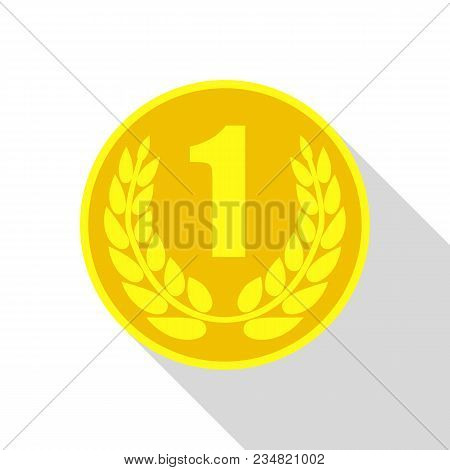 Best Medal Icon. Flat Illustration Of Best Medal Vector Icon For Web