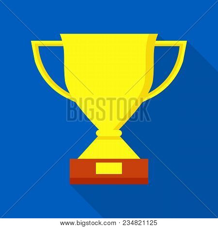 Sport Trophy Icon. Flat Illustration Of Sport Trophy Vector Icon For Web