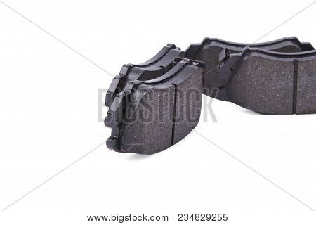 Black Brake Pads Isolated On White Background