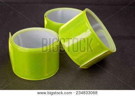 Bright Reflective Tape On Dark Background