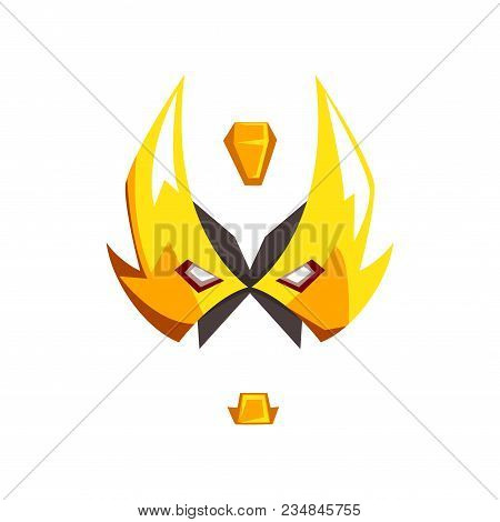 Mask Of Hero Or Villain Face Vector Illustration Isolated On A White Background.