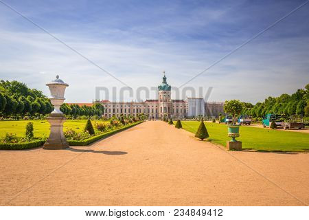 Berlin, Germany - June 15, 2017: The park and gardens of Charlottenburg in Berlin, Germany. Berlin is the capital and the largest city of Germany with a population of approximately 3.7 million people.