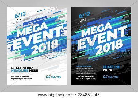 Vector Layout Design Template For Mega Event Sport Event.