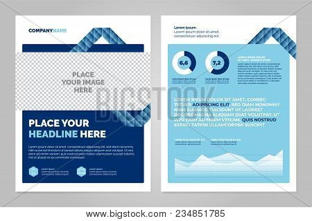 Brochure Layout Template, Cover Design Background, Annual Reports. Can Be Adapt To Annual Report, Ma
