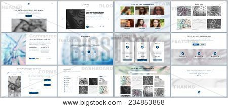 Set Of Vector Templates For Website Design, Minimal Presentations, Portfolio. Simple Elements On Whi