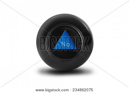Magic ball with prediction No isolated on white background