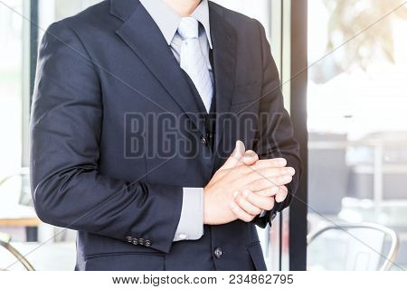 Business People Clapping Hands At Modern Office
