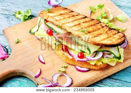 Sandwiches On The Cutting Board