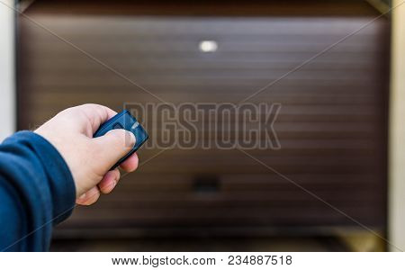 Hand Use Remote Controller For Closing And Opening Garage Door. Garage Door Pvc.