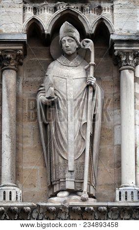 PARIS, FRANCE - JANUARY 04: Saint Denis, Notre Dame Cathedral, Paris, UNESCO World Heritage Site in Paris, France on January 04, 2018.