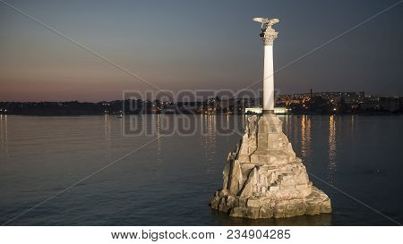 Sevastopol, Crimea, Russia: Monument To Sunken Ships And Flying Seagulls. Monument Was Created In 19