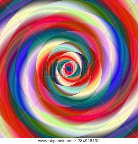Colorful Ellipse Fractal Swirl Design Background - Digital Art
