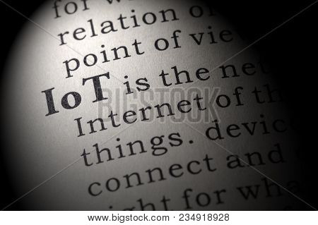 Fake Dictionary, Dictionary Definition Of The Word Iot, Internet Of Thingsl. Including Key Descripti