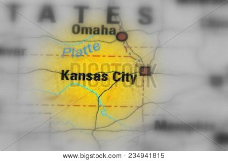 Kansas City, City In Missouri, United States (black And White Selective Focus)