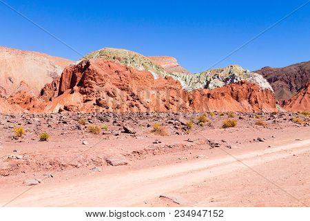 Rainbow Valley Landscape, Chile. Chilean Panorama. Valle Arcoiris