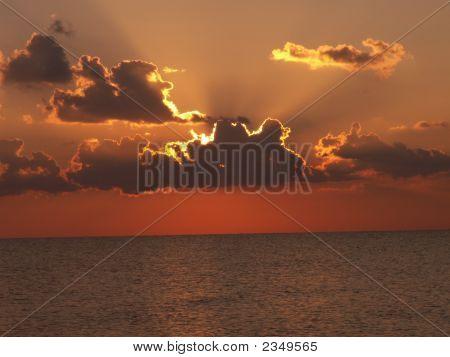 Dawn And Solar Beams