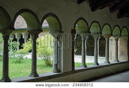 Cloister Of The Former All Saints Benedictine Abbey (kloster Allerheiligen) In The Heart Of The Old